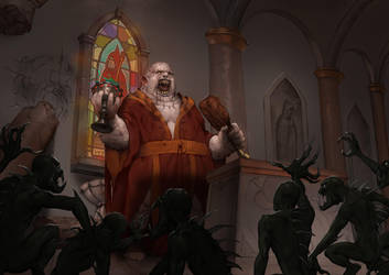 Legendary Planet Games -  'Evil Clerics' cover art by Jumpei