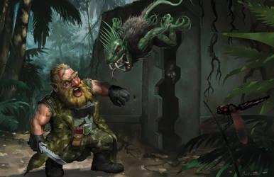 Shadowrun (Hard Targets) - 'Dwarf vs Chupacabra' by Jumpei
