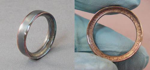 Coin Ring: Golden Dollar by BorosilicateArachnid