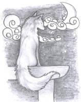 Fox on the Gate by kiyuta