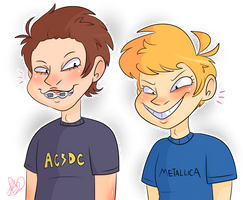 Beavis And Butthead by saladwitch