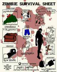 Zombie Survival Sheet by TheGreenFinch