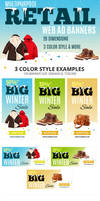 Multipurpose Retail Web Ad Banners by webduckdesign