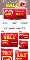 Valentine's Sale Web Ad Banners - 2014 by webduckdesign