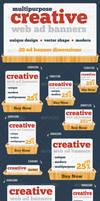 Creative Unique Web Ad Banners Multipurpose by webduckdesign