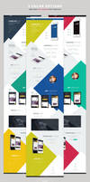 GeekApp - One Page App Landing PSD Template by webduckdesign