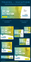 Travel - Vacation Web Ad Marketing Banners Vol 5 by webduckdesign