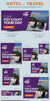 Hotel / Travel Web Ad Marketing Banners Vol 2 by webduckdesign