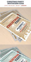 Christmas Party Invitation Flyer Template by webduckdesign