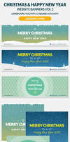 Christmas And Happy New Year Website Banners Vol 2 by webduckdesign