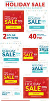 Christmas Holiday Sale Web Ad Marketing Banners by webduckdesign