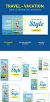 Travel - Vacation Web Ad Marketing Banners by webduckdesign