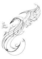 Phoenix Tattoo Design by PatrickBrown
