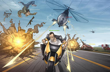 GTA IV COMIC teaser by PatrickBrown