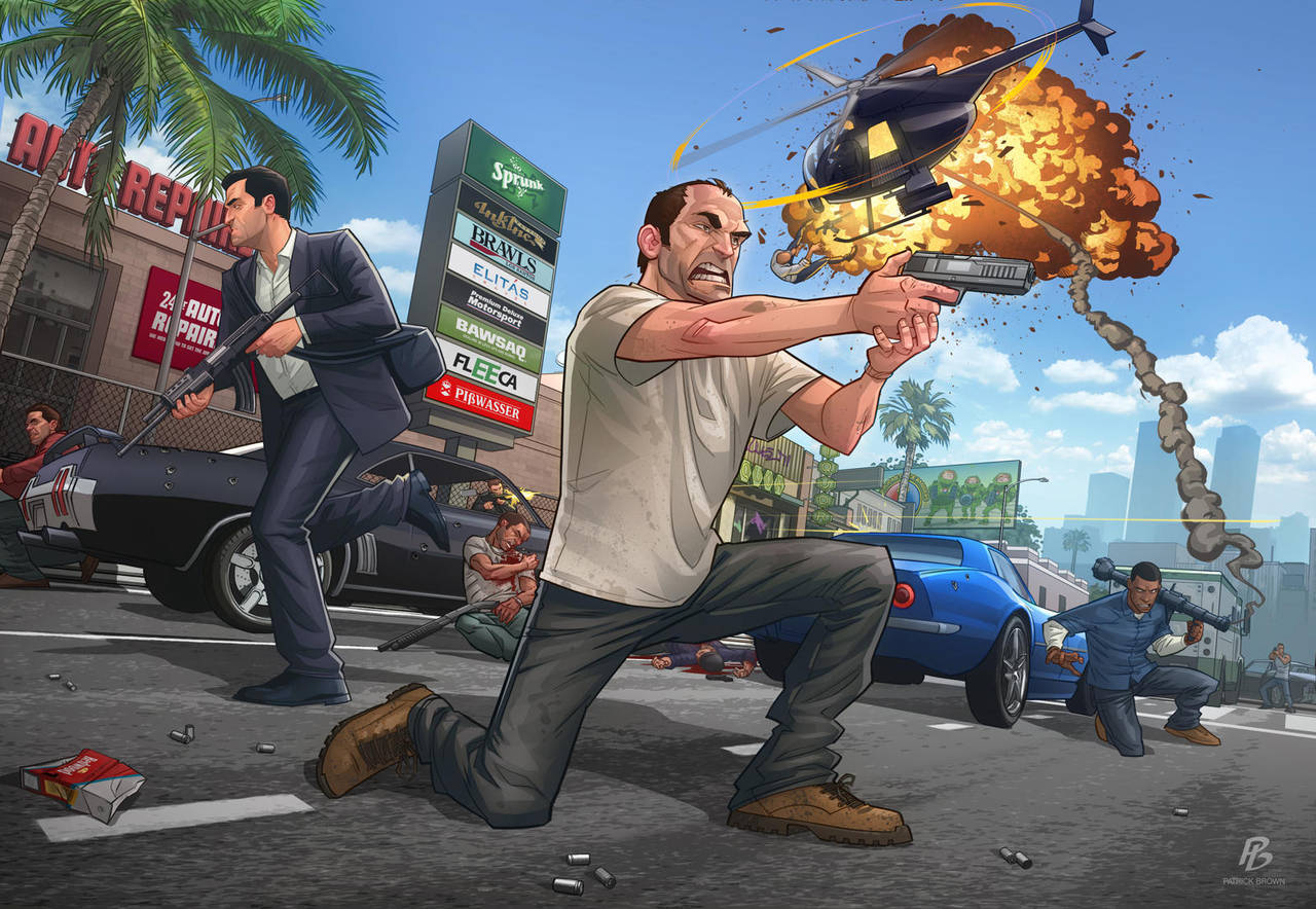 GTA V - Launch piece by PatrickBrown