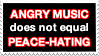 Angry Music and Peace Stamp by Skarlet-Raven