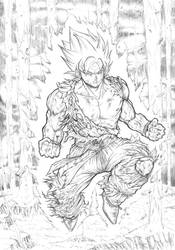 The first Super saiyan pencils 2018 by barfast