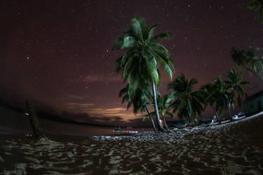 Paradise night sky by Sliktor