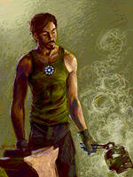Tegaki - Tony Stark by luvmegabyte