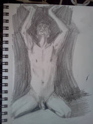 Male Nude - justmeina by lunarcide