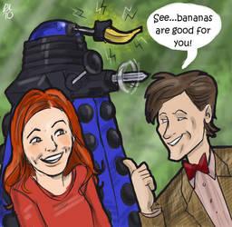 Dalek banana by Lovelyruthie
