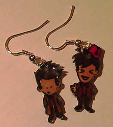 Two Doctors earrings by Lovelyruthie