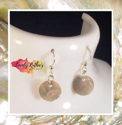 Mother of Pearl Disc earrings by Lovelyruthie
