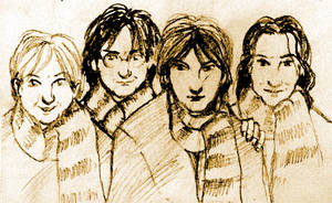 Marauders in scarves by Lovelyruthie