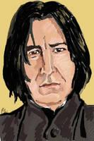 Snape portrait by Lovelyruthie