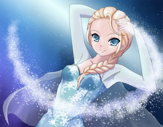 Elsa the Snow Queen (Frozen) by Mietzy