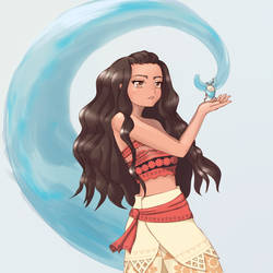Moana - chosen by the ocean by Mietzy
