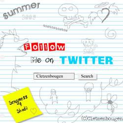 Follow Me On Twitter by Cletzenbougen