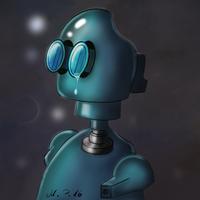 Little Robot Injured by jayanam