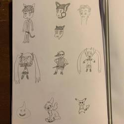 Doodles for Inktober Days 1-7 by sange381