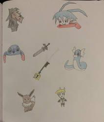 Doodles for Inktober Days 8-14 by sange381