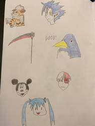 Doodles for Inktober Days 15-21 by sange381