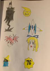 Doodles for Inktober Days 22-28 by sange381