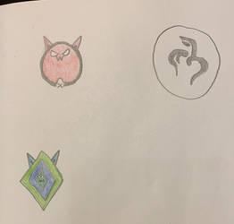 Doodles for Inktober Days 29-31 by sange381