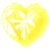 Yellow Heart Crystal by SilverRose808