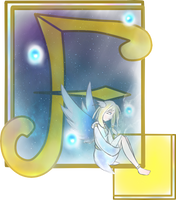 Illuminated Letter 'F' by SilverRose808