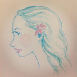 Watercolor Pencil Sketch by VeronicaKosowski
