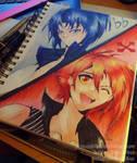 SpeedArt: Idolish7 - Riku and Iori by MissKilvas