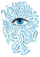 Saphire eye by Qbaska