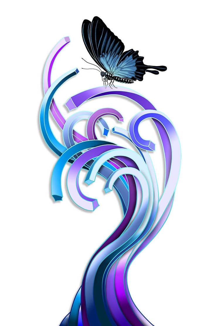 Butterfly by Qbaska