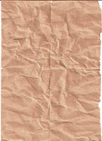 Crinkled Brown Paper by kizistock