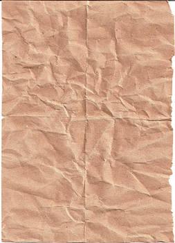 Crinkled Brown Paper by kizistock