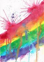 Messy Rainbow 2 by kizistock