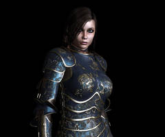 Lady in armor by BigKahuna70
