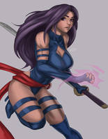 Psylocke by iamHikari-kun