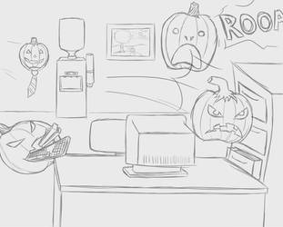Halloween request 2016 4 by W0lfmare